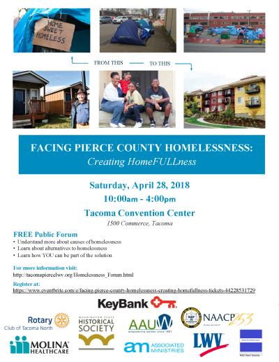 Facing Pierce County Homelessness: Creating HomeFULLness